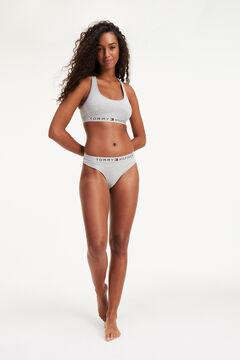 Womensecret Thong with logo grey