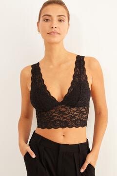 Womensecret Black lace bralette black