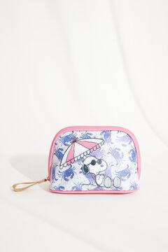 Womensecret Snoopy Crab vanity case blue