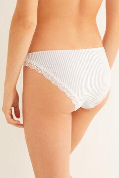 Womensecret Organic cotton classic panty blue