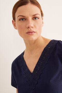 Womensecret Collar detail t-shirt blue