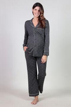 Womensecret Maternity pyjama set with hearts grey