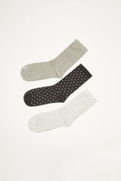 Womensecret 3-pack lurex socks printed