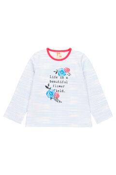 Womensecret Pijama malha combinado para menina - Algodão orgânico branco