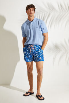 Womensecret Men's fish print short swimming shorts blue