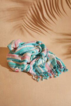 Womensecret Coloured striped beach towel beige