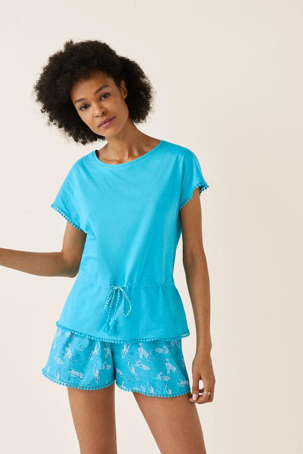 caf00dffb Womensecret Pijama corto estampado leopardos estampado