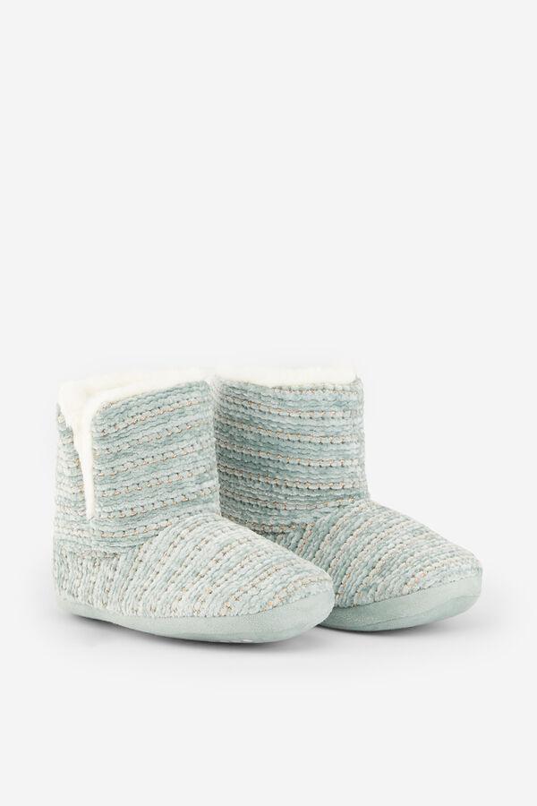 5610429425 Womensecret Zapatillas botín de chenilla verde