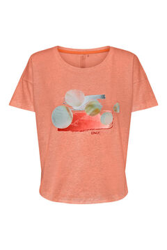 Womensecret Cotton T-shirt rouge