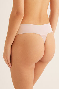 Womensecret Polka dot thong pink