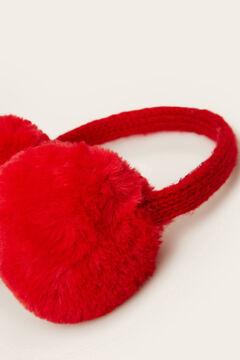 Womensecret Cache-oreilles en fourrure  rouge