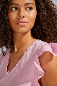 Womensecret Short pink flounced strappy dress pink
