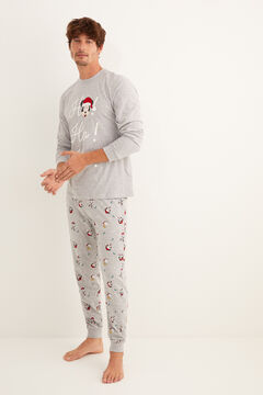 Womensecret Long Christmas Mickey pyjamas grey