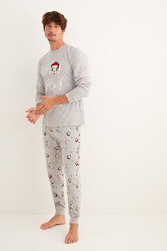 Womensecret Pijama largo para hombre invierno Mickey Navidad gris