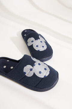 Womensecret Mickey Mouse slider slippers blue