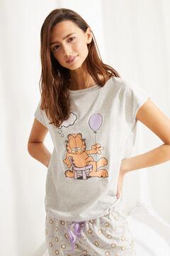 Womensecret Pyjama court Garfield coton gris