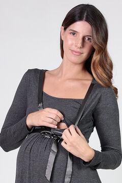 Womensecret Maternity nursing nightgown with satin belt grey