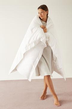 Womensecret Grey midi nightgown in 100% organic cotton with moon pattern grey