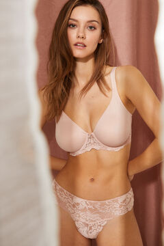 Womensecret REAL Pink underwired minimiser bra pink