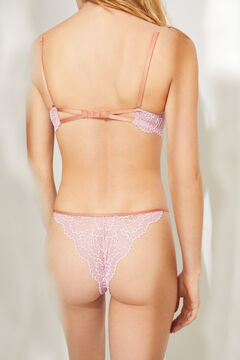 Womensecret Tanga dentelle rose rose