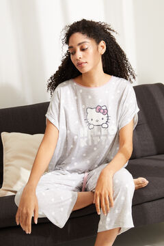 Womensecret Hello Kitty Capri pyjamas in grey super soft fabric grey