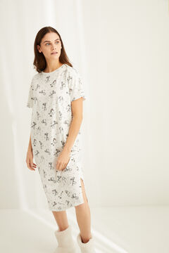 Womensecret Snoopy print midi nightgown  grey