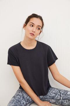 Womensecret Short-sleeved sports top grey