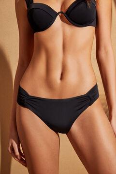 Womensecret Classic black bikini bottoms with ruching black