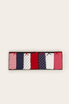 Womensecret 7er-Pack Brazilian Slips Baumwolle mit Print mit Print
