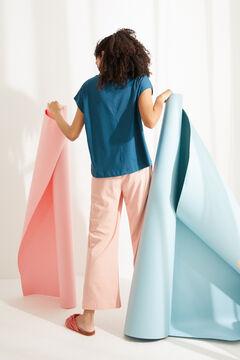 Womensecret Camiseta manga corta algodón azul azul