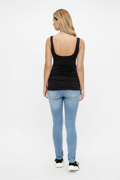 Womensecret Recycled nylon seam-free maternity top black