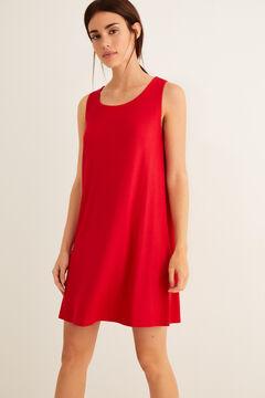 Womensecret Kleid Kordel Rücken Rot