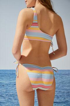 Womensecret Classic striped bikini bottoms white