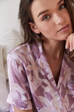 Womensecret Pijama camiseiro comprido Capri rosa