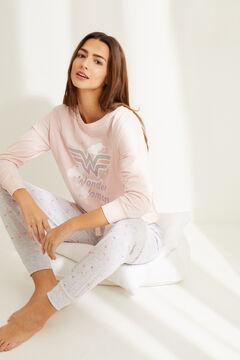 Womensecret Pink long-sleeved Wonder Woman pyjamas. pink