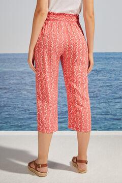 Womensecret Red floral print capri bottoms printed