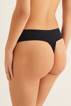 Womensecret Polka dot thong black