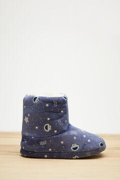Womensecret 3D Cookie Monster blue velour slipper boots blue