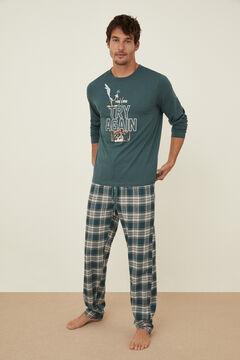 Womensecret Pijama Coyote y Correcaminos algodón verde verde