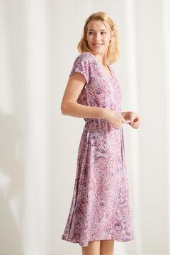Womensecret Ärmelloses Midi-Nachthemd Paisley Braun