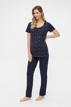 Womensecret Organic cotton maternity pyjama set blue