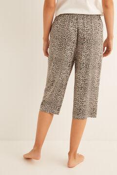 Womensecret Cropped printed pyjama bottoms nude