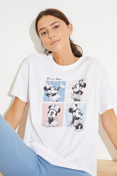 Womensecret Long cotton Minnie pyjamas beige