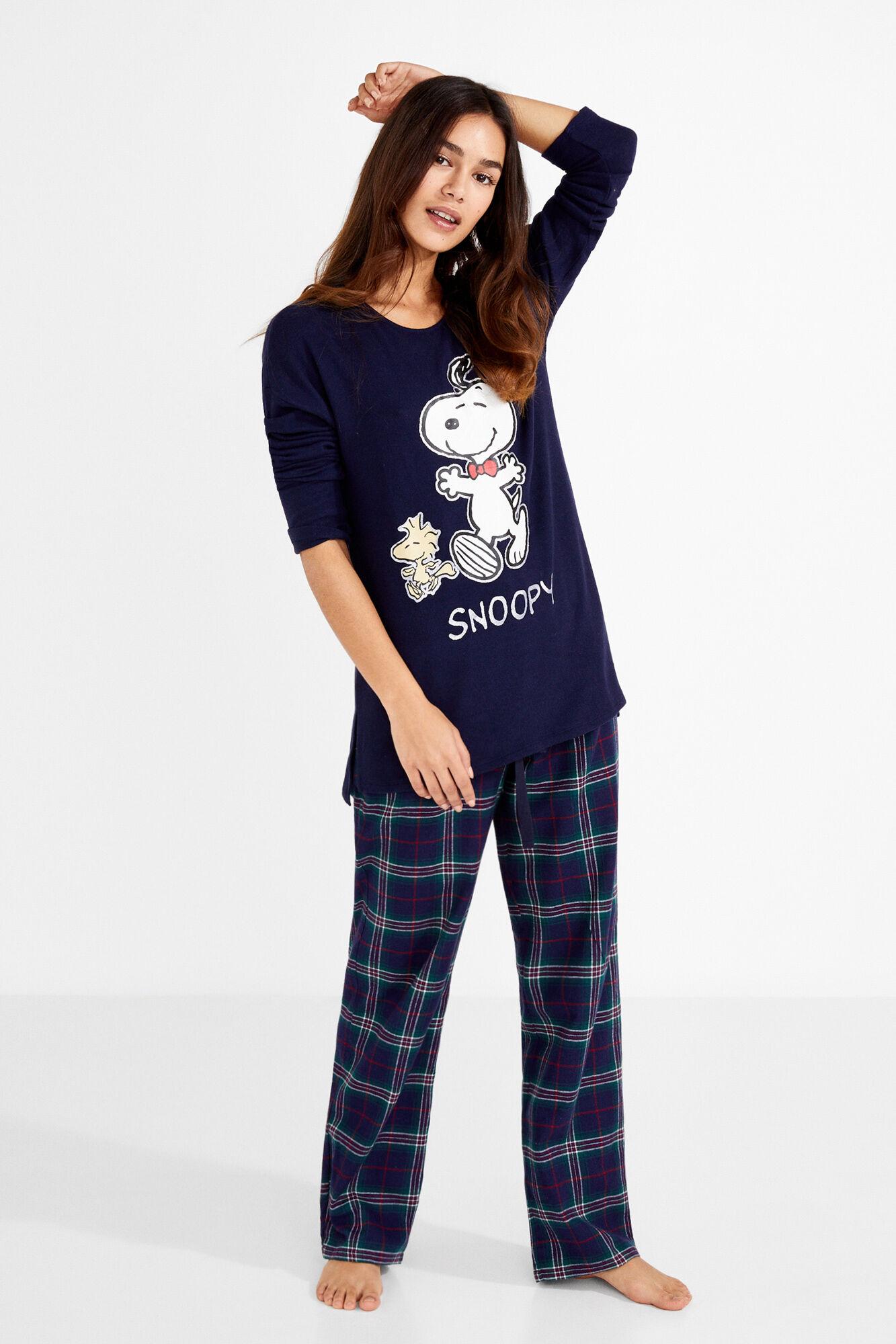 économies fantastiques vente au royaume uni nouvelles photos Long tartan Snoopy pyjamas | Sleepwear | Women'secret