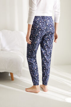 Womensecret Long floral cotton bottoms blue