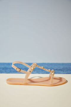 Womensecret  Nude shell sandals white