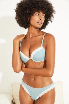 Womensecret Turquoise classic cotton panty blue