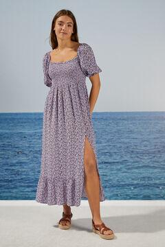Womensecret Long midi dress sustainable flowers blue