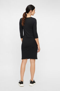 Womensecret Organic cotton maternity dress. black