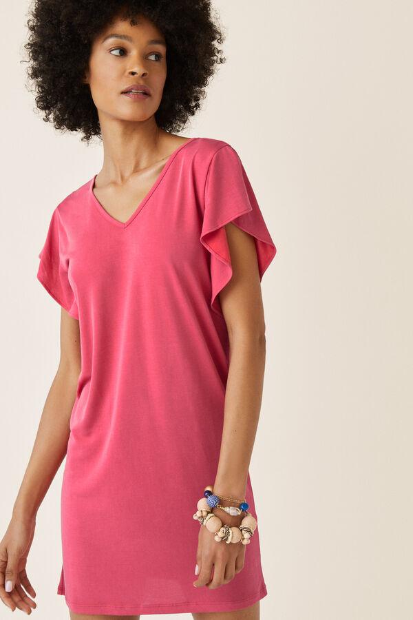 bde9d02f4e2 Womensecret Vestido corto liso básico rosa